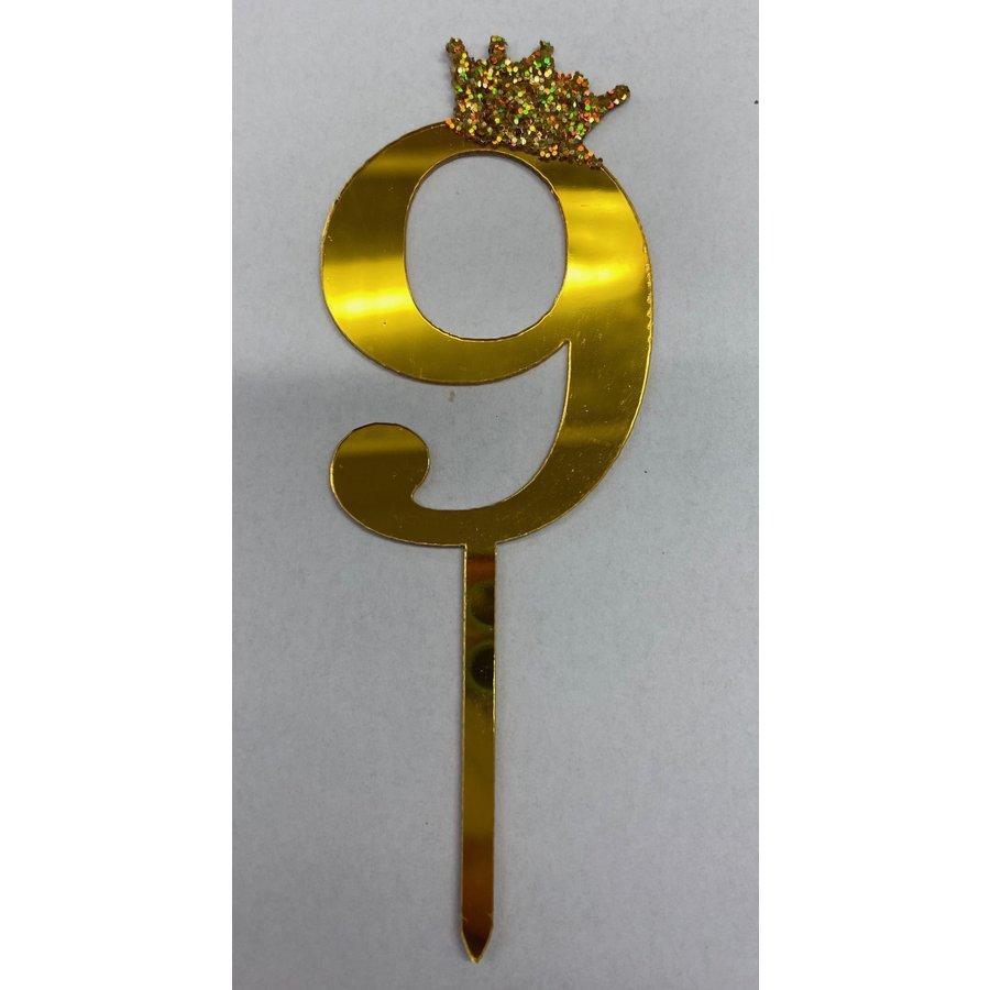 Acryl prikker #9 goud klein-1