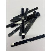 thumb-Acryl ijsstokjes glitter zwart 10st-1