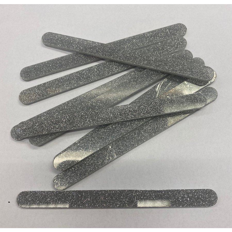Acryl ijsstokjes glitter zilver 10st-1