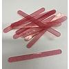 Acryl ijsstokjes glitter roze transparant 10st
