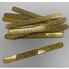 Acryl ijsstokjes glitter licht goud 10st