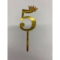thumb-Acryl prikker #5 goud klein-1