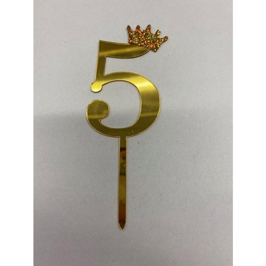 Acryl prikker #5 goud klein-1