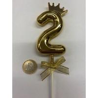 thumb-Cake topper ballon 2 goud-2