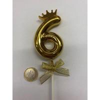 thumb-Cake topper ballon 6 goud-2