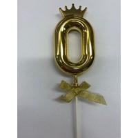 thumb-Cake topper ballon 0 goud-2