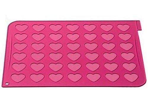 Silikomart wonder cakes macaron mat heart roze