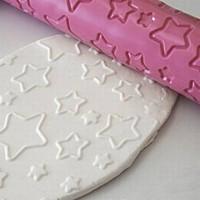 thumb-Silikomart Decorative Rolling Pin stars-2