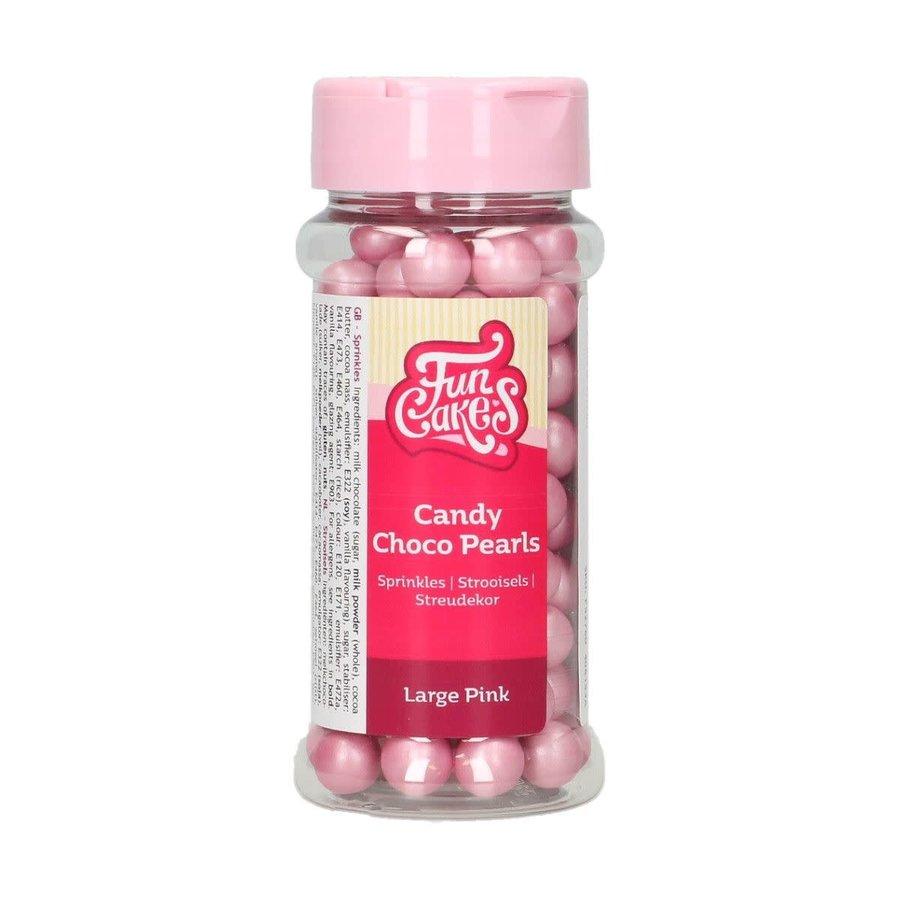 FunCakes Candy Choco Parels Large Roze 70 g-1