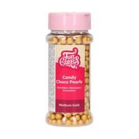 thumb-FunCakes Candy Choco Parels Medium Goud 80 g-1