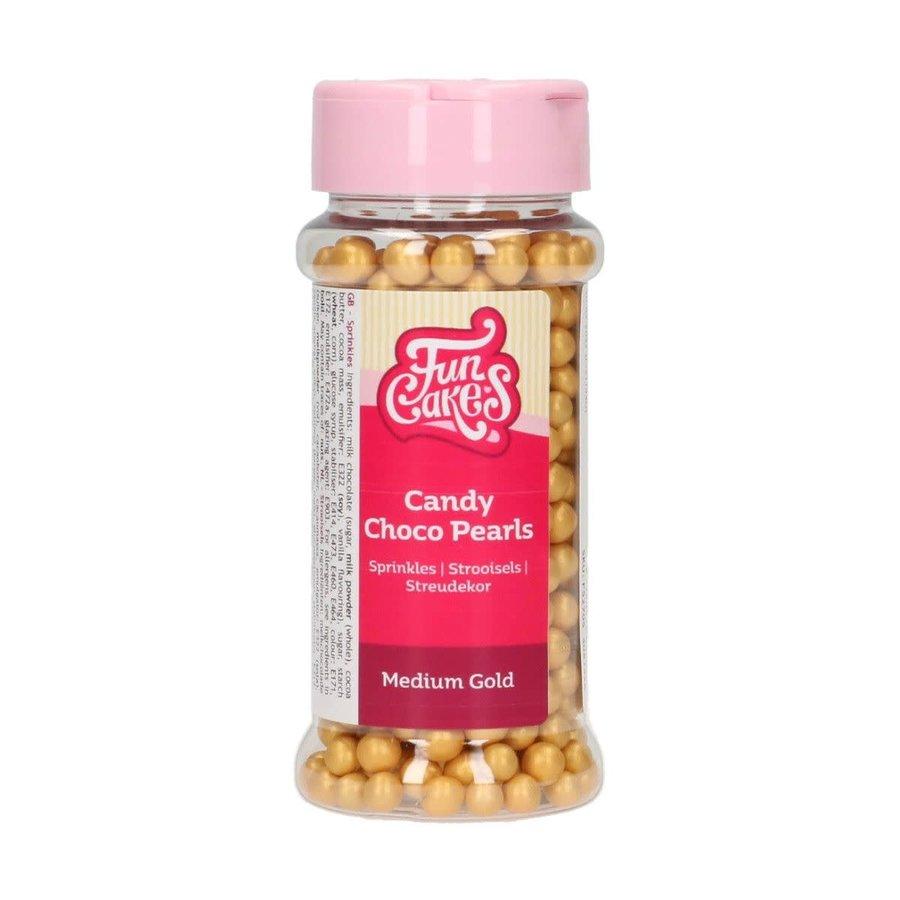 FunCakes Candy Choco Parels Medium Goud 80 g-1