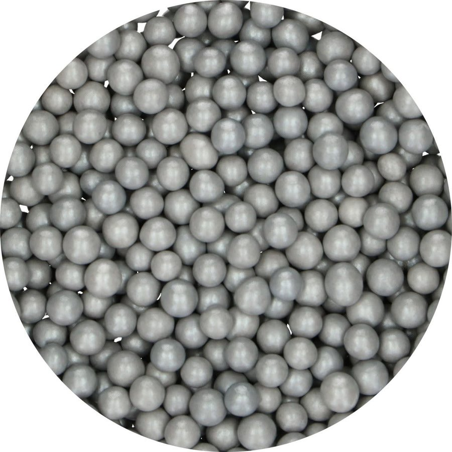 FunCakes Candy Choco Parels Medium zilver 80 g-2