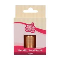thumb-FunCakes Eetbare Metallic Verf Koper 30ml-1