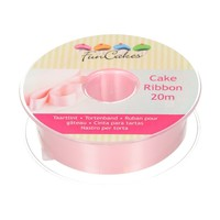 FunCakes Cake Ribbon -Roze- 25mm per 1 meter