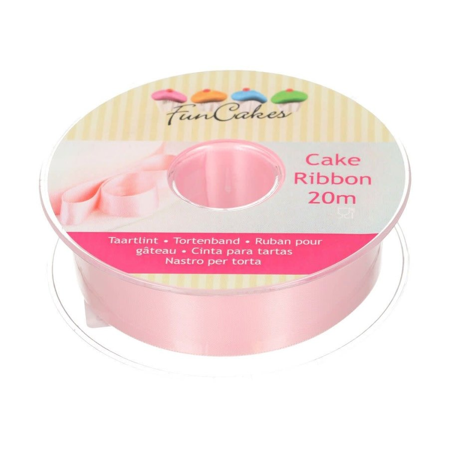 FunCakes Cake Ribbon -Roze- 25mm per 1 meter-1