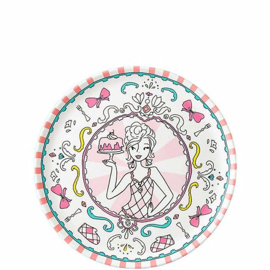 Jill - Bord ⌀20 cm - Roze - Melamine-1
