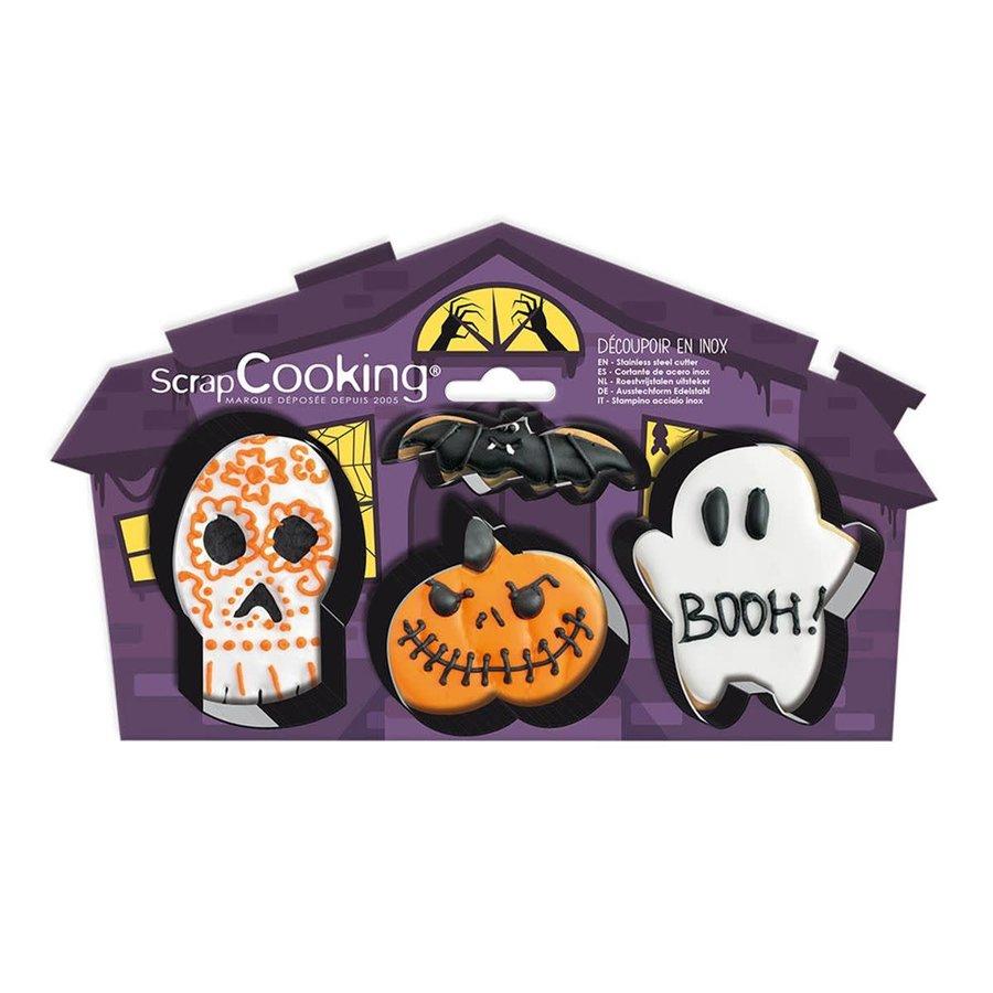 Scrapcooking Cookie Cutter Halloween Set/4-1