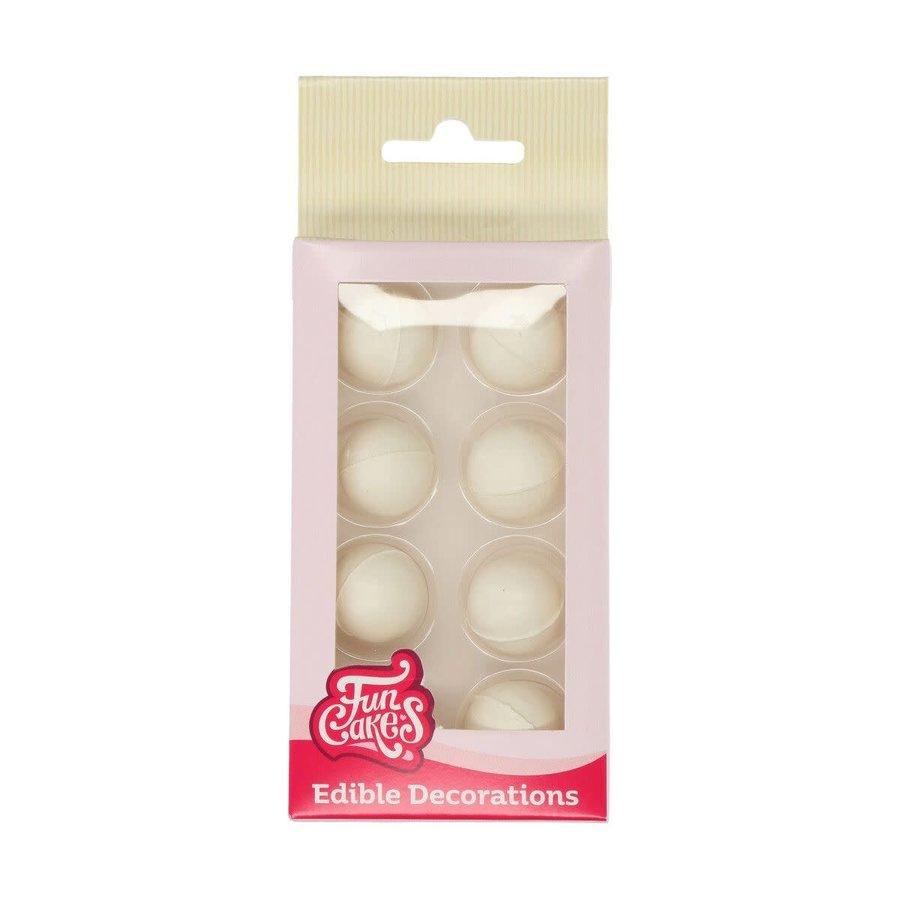 FunCakes Pearl Choco Balls White Set/8-1