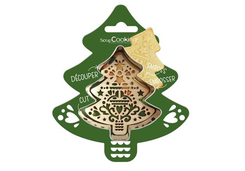 Scrapcooking Cookie Cutter & Embosser Dennenboom