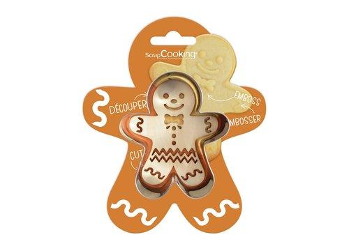Scrapcooking Cookie Cutter & Embosser Gingerbread Man