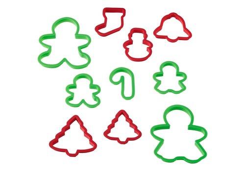 Wilton Plastic Cookie Cutter Christmas Set/10