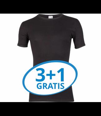 Beeren Heren T-Shirt Extra Lang M3000 Zwart voordeelpack A