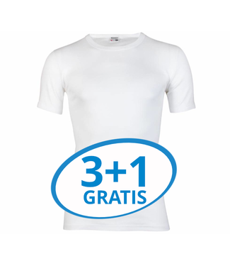 Beeren Heren T-Shirt M3000 Wit voordeelpack A