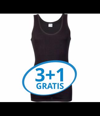 Beeren Heren Singlet M3000 Zwart Voordeelpack A