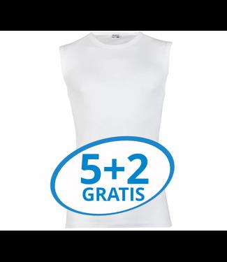 Beeren Heren Extra Lang Mouwloos Shirt Wit Voordeelpack B