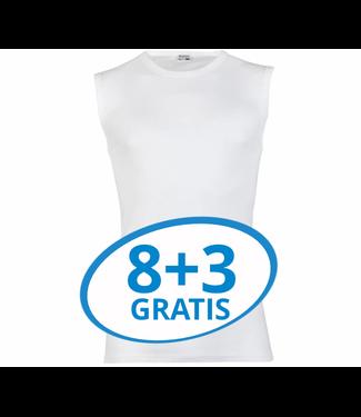 Beeren Heren Extra Lang Mouwloos Shirt Wit Voordeelpack C