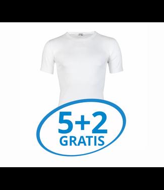 Beeren Heren T-Shirt Extra Lang M3000 Wit voordeelpack B