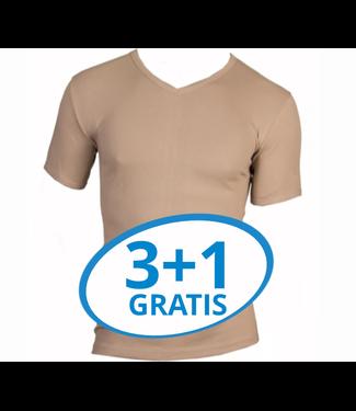 Beeren Heren T-Shirt V-Hals M3000 Huidskleur voordeelpack A