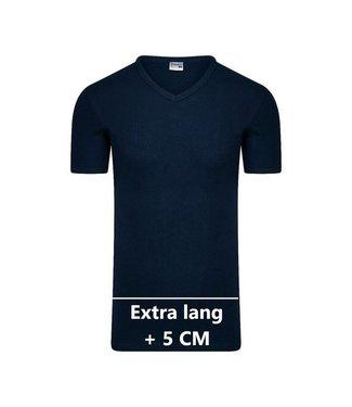 Beeren Heren V-Hals T-Shirt Extra Lang M3000 Marine voordeelpack B