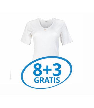 Beeren Dames T-Shirt M3000 Wit Voordeelpack C