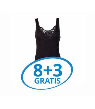 Beeren Dames Hemd Viola Zwart Voordeelpack C