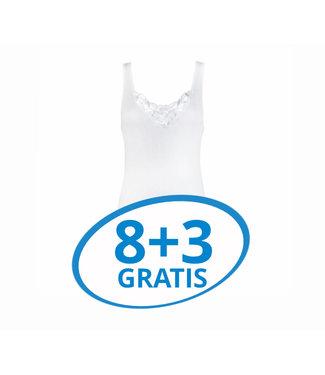 Beeren Dames Hemd Viola Wit Voordeelpack C