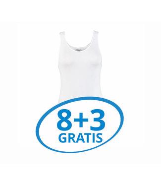 Beeren Dames Comfort Feeling Hemd Wit Voordeelpack C