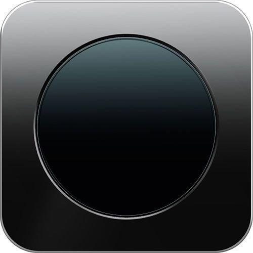R1 glas zwart