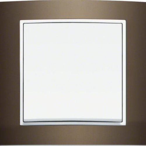 B3 bruin aluminium/wit mat