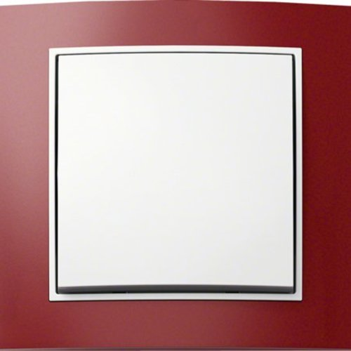 B3 rood aluminium/wit mat