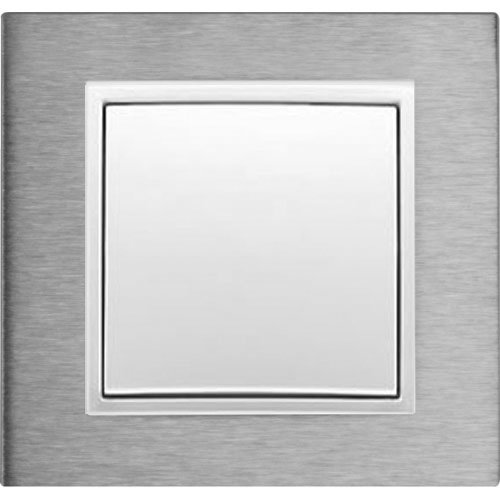 B7 edelstaal/wit mat