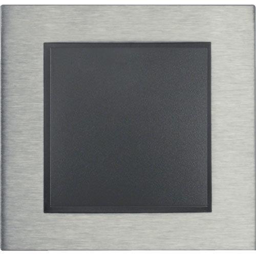 B7 edelstaal/antraciet mat