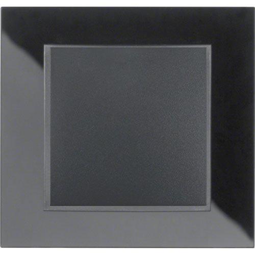 B7 zwart glas/antraciet mat