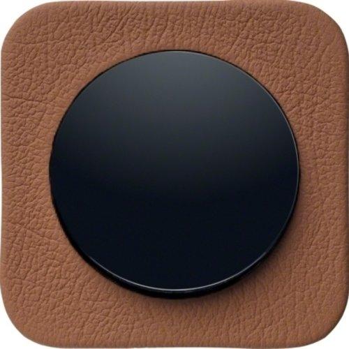 R1 bruin leder zwart