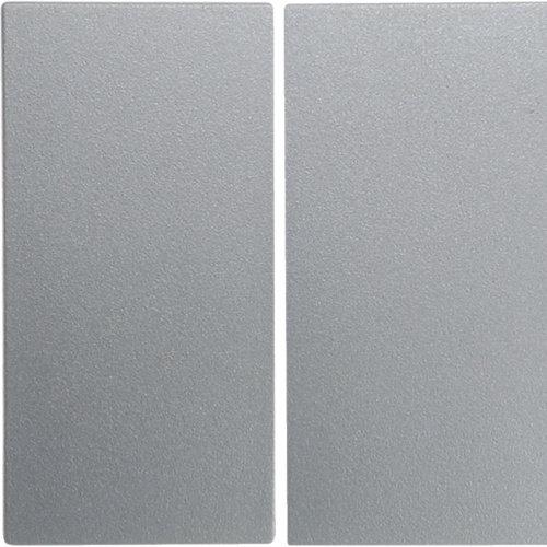 Berker schakelwip 2-voudig S1/B3/B7 aluminium wit (16231404)