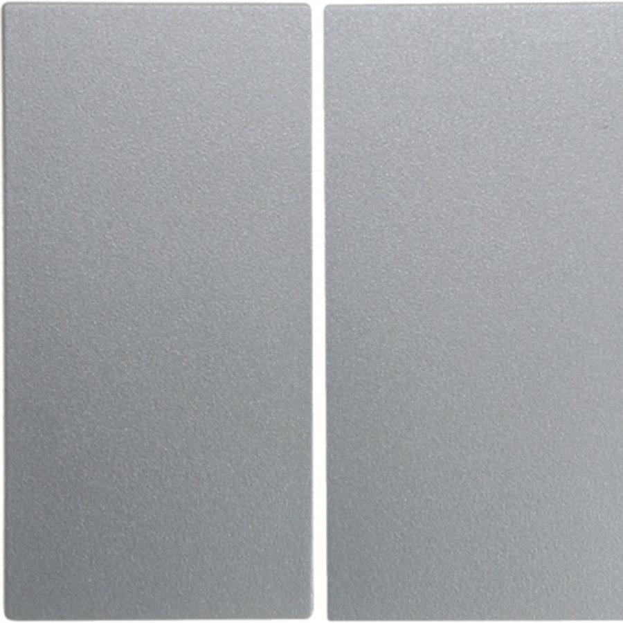 schakelwip 2-voudig S1/B3/B7 aluminium wit (16231404)