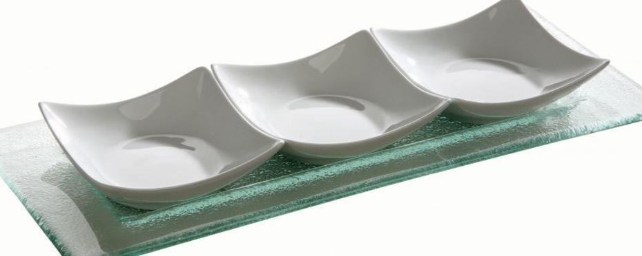 """Glasteller """"Gala"""" - Rechteckiger Glasteller ideal als Servierteller"""