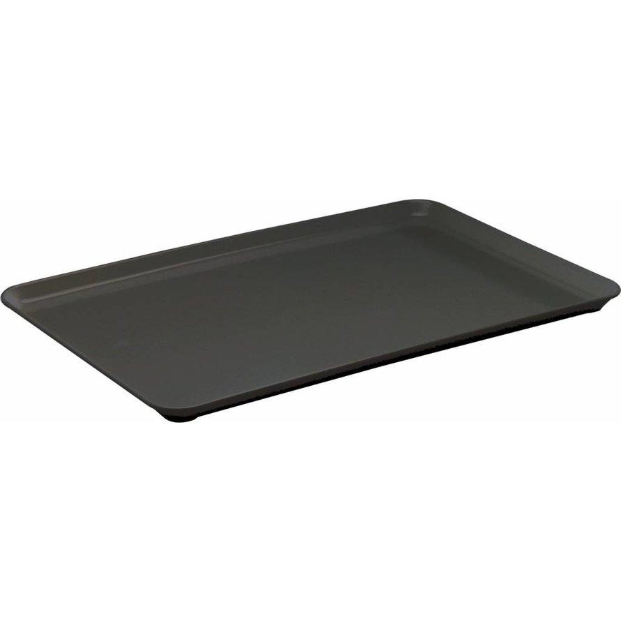 Auslageplatte Melamin, schwarz