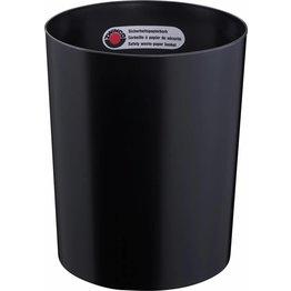 Sicherheitspapierkorb ohne Aluminium-Einsatz schwarz