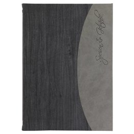 "Speisenkarte ""Felia"" A4 schwarz + grau"